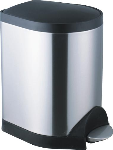 Foot pedal stainless steel dustbin S-5B