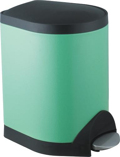 Foot pedal stainless steel dustbin S-5A(Green)