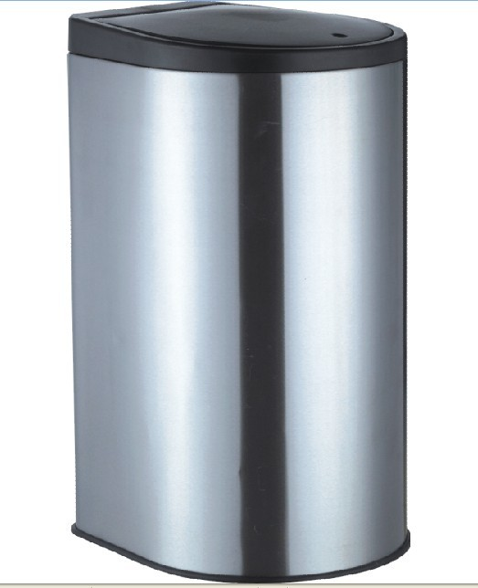 Foot pedal stainless steel dustbin H-40B